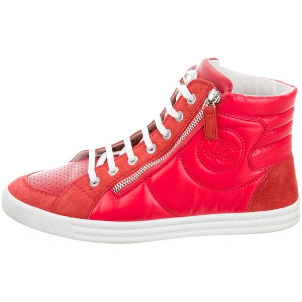 Pre-owned - Leather high trainers Chanel xls7myrlvC