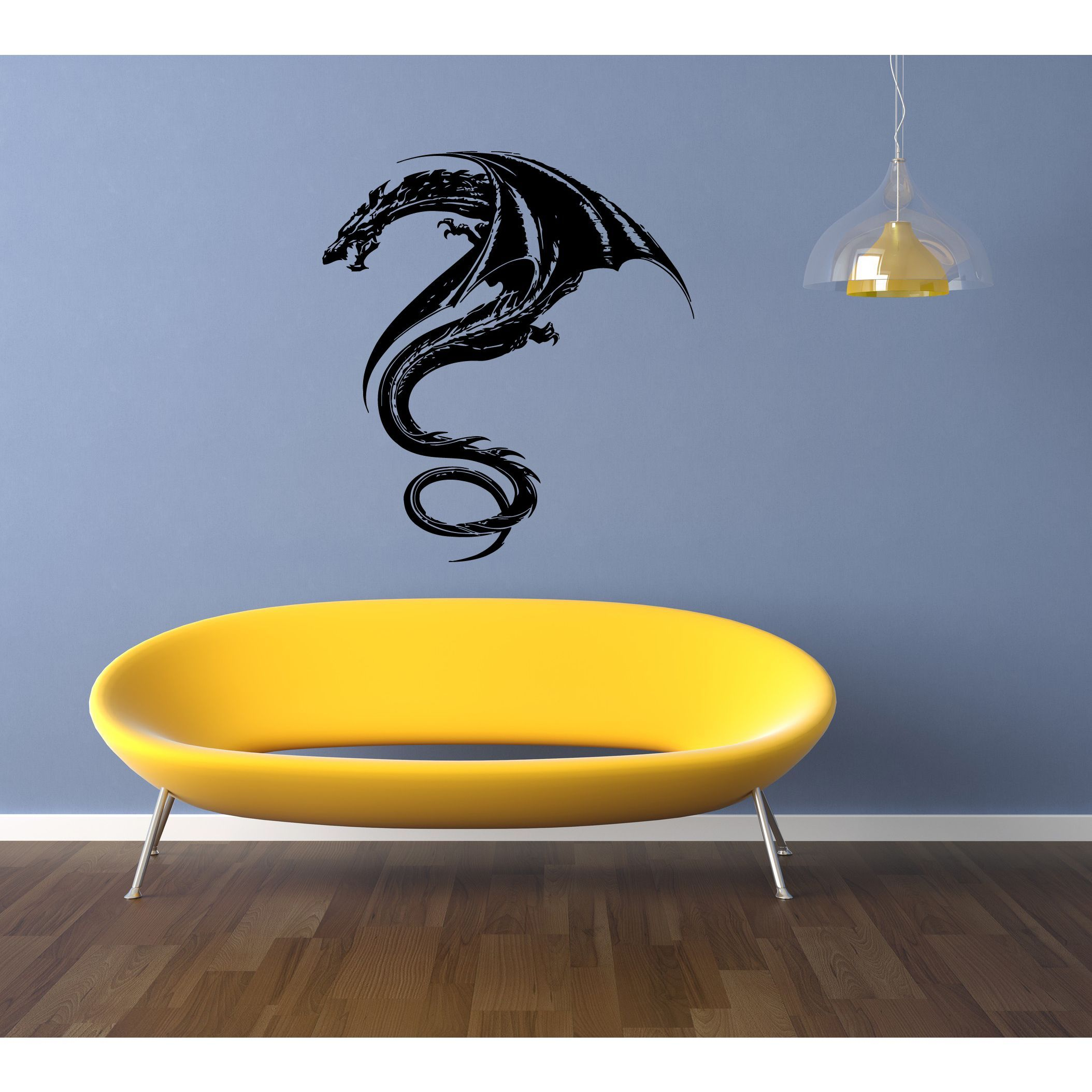 dragon Wall Art Sticker Decal | For Aiden | Pinterest | Black dragon ...