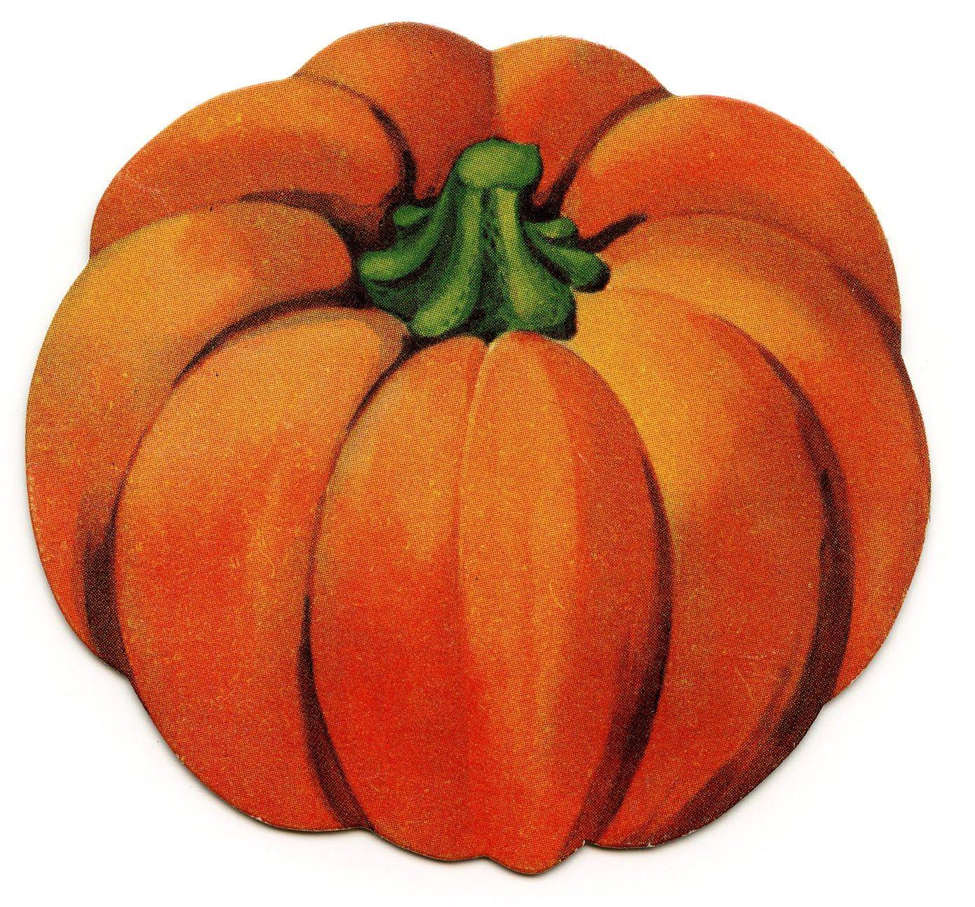 Vintage Halloween Clip Art - Cute Little Pumpkin | Zeichnen und Malen