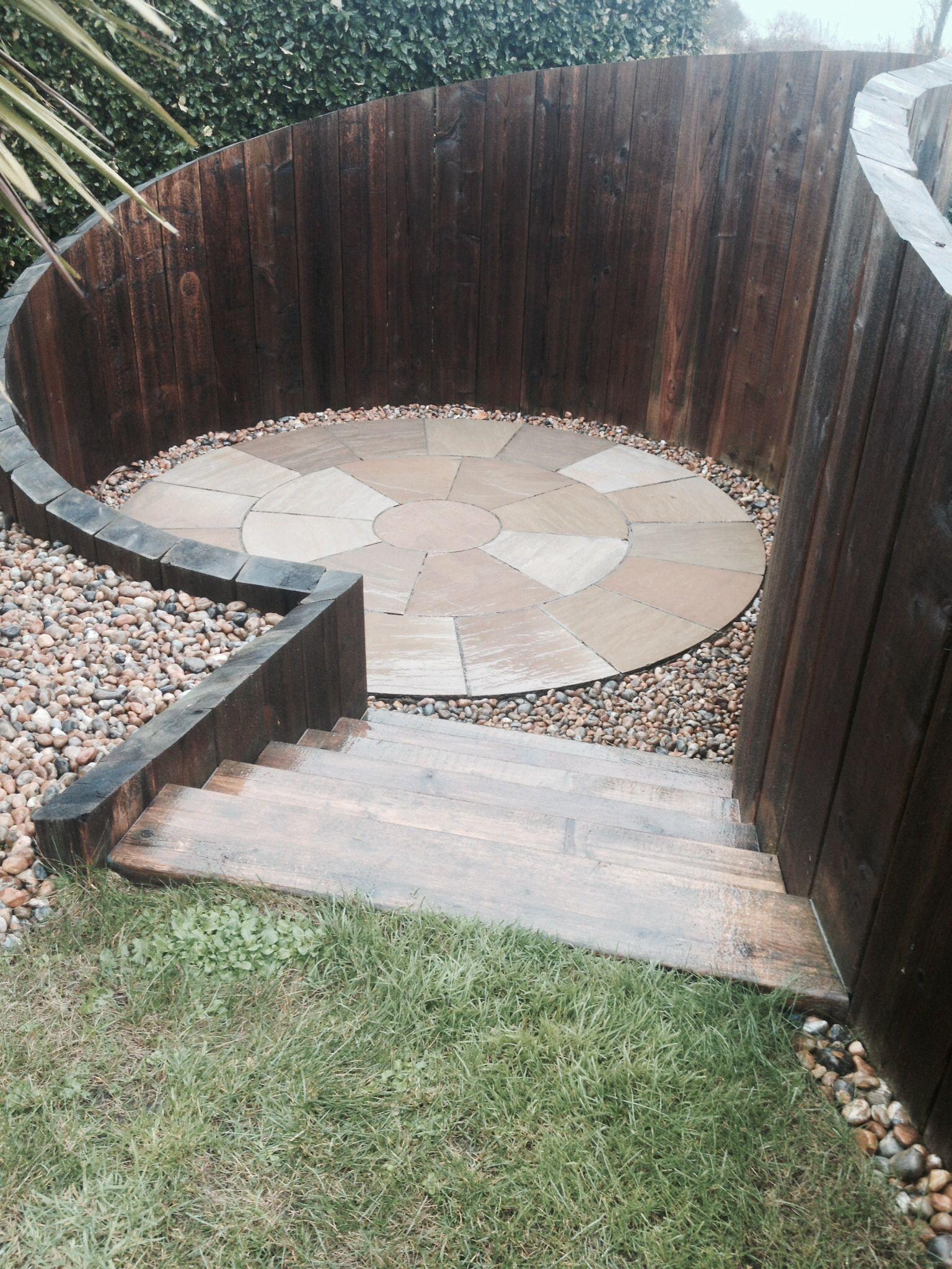 Sunken seating area | Garden | Pinterest | Gardens, Garden ...