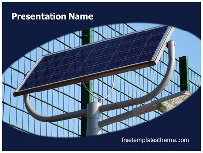 download free solar energy light powerpoint template for your