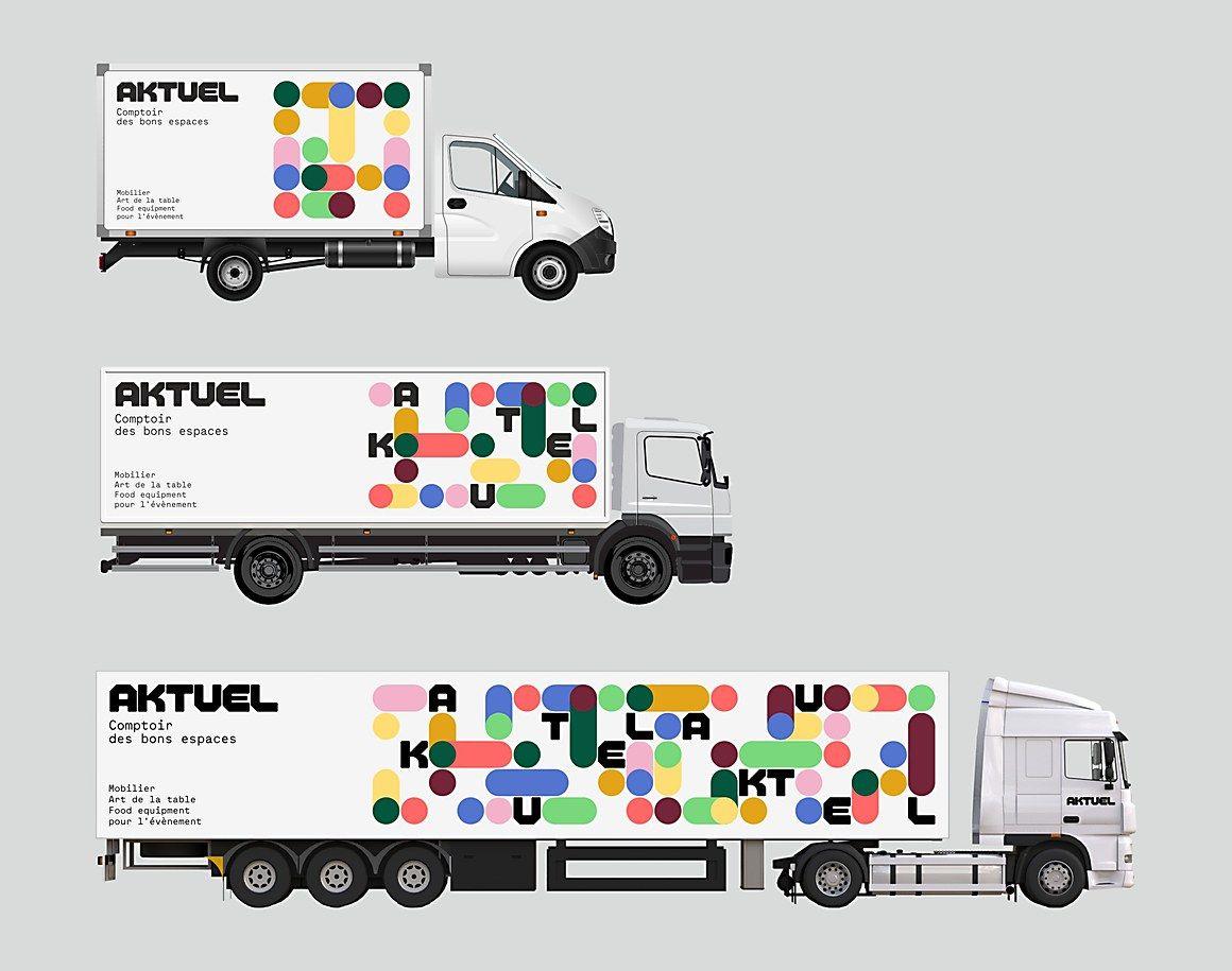 Aktuel identity Communication Arts Vehicle signage