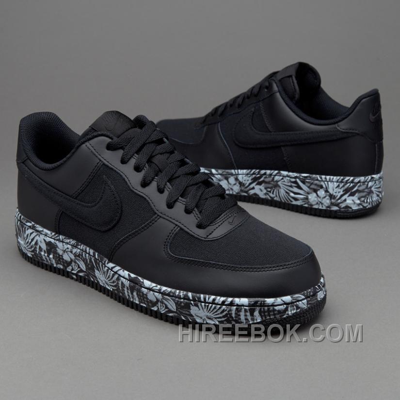 b570bd5e347b 2016 Nike Air Force 1 820266-007 Black Print Flower Sneaker Women men New  Release