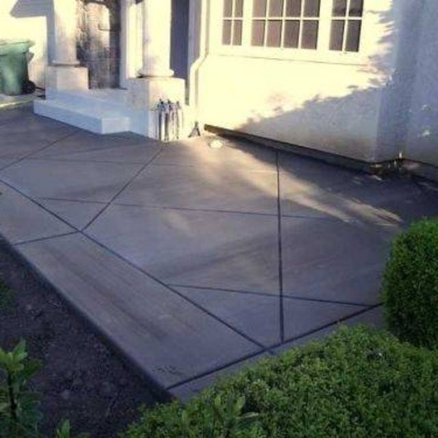 Patio Ideas With Existing Concrete Slab: The O'jays, Diamond Pattern