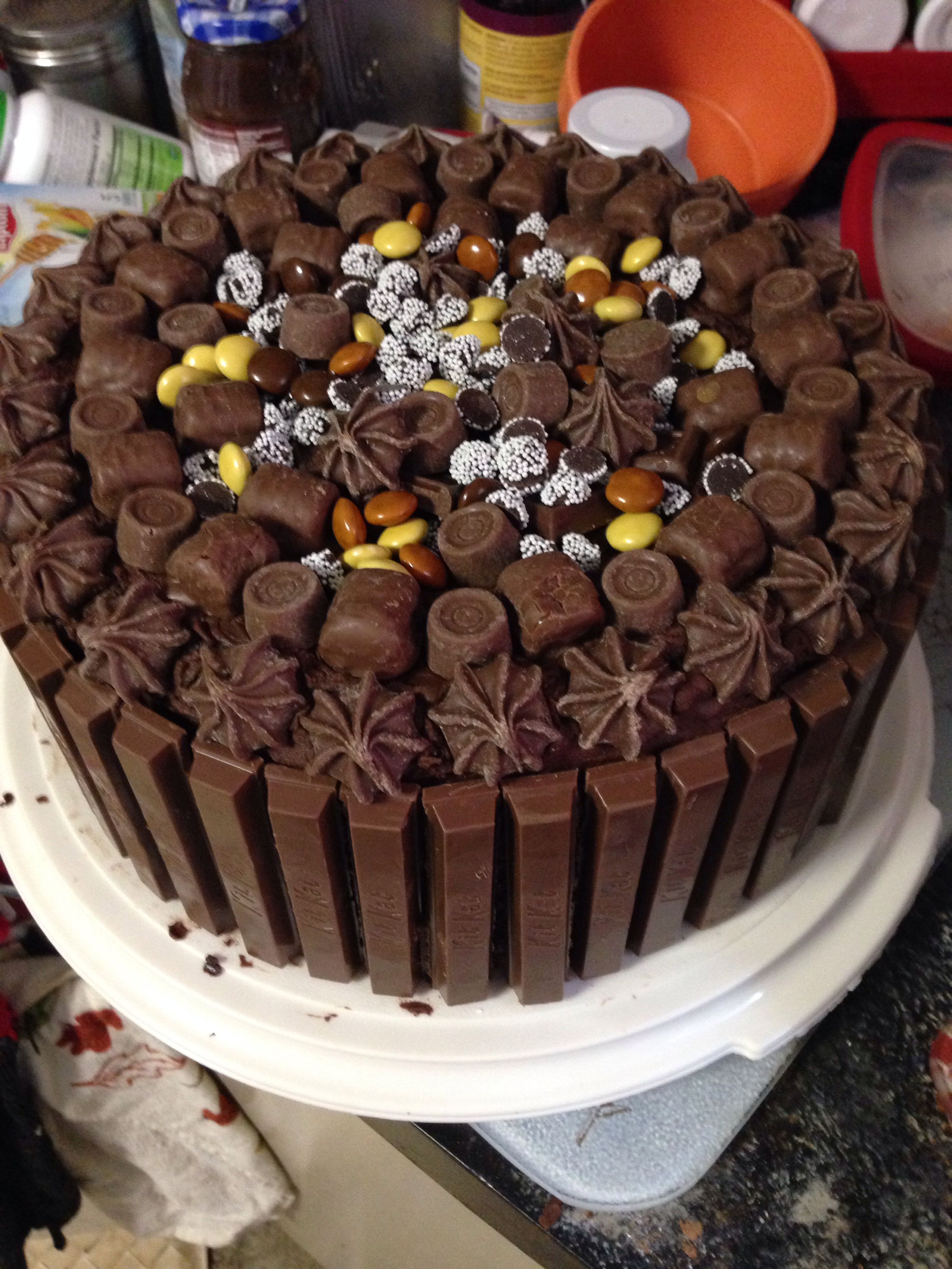 Hershey chocolate cake decorated with candy | My creations ...
