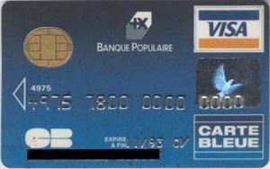carte visa classic banque populaire Bank Card: Visa Classic (Banque Populaire, France) Col:FR VI 0010