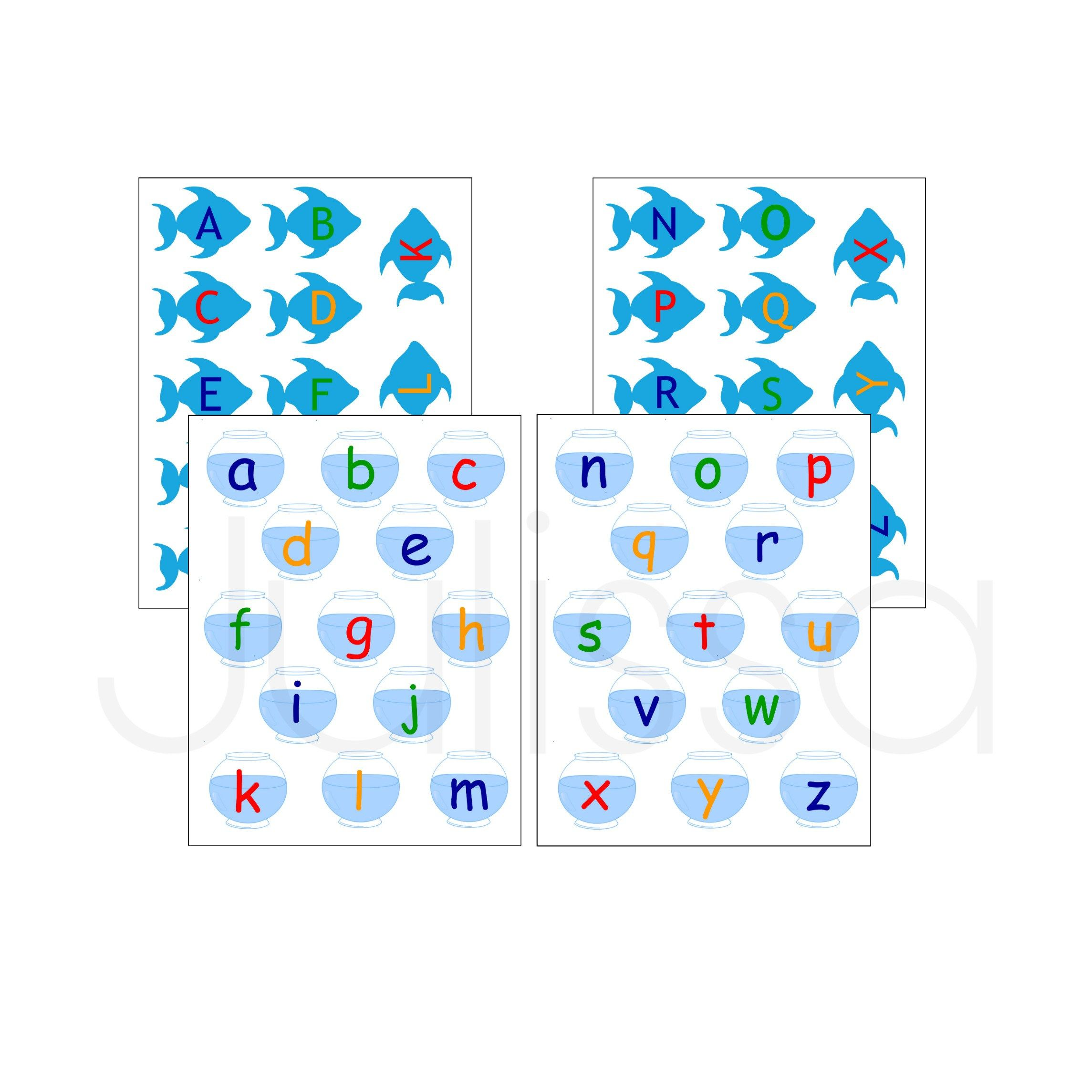 Matching Letters File Folder Game Printable Learning
