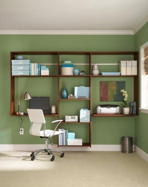43 Inspiring And Thoughtful Home Office Storage Ideas With White Green