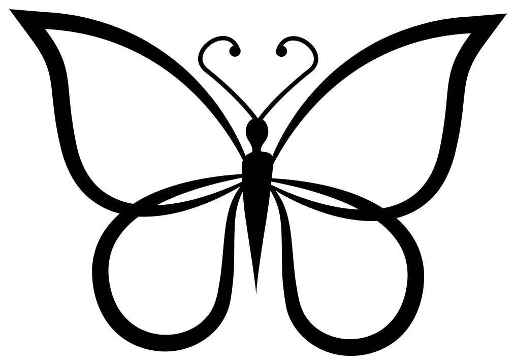 30++ Butterfly outline clipart black and white ideas