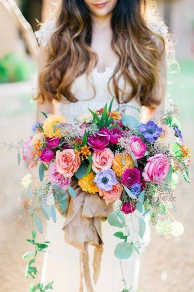 Pops Of Wow 25 Colorful Wedding Ideas You Ll Love Boho Wedding