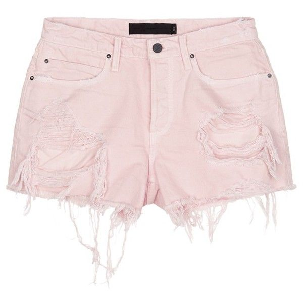 bee9a8193ac Alexander Wang  Romp  oversized distressed denim shorts (1.887.200 IDR) ❤  liked on Polyvore featuring shorts