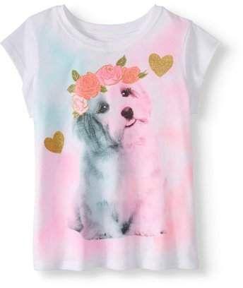 e70fc6639 365 Kids From Garanimals Little Girls' 4-8 Short Sleeve Graphic T-Shirt