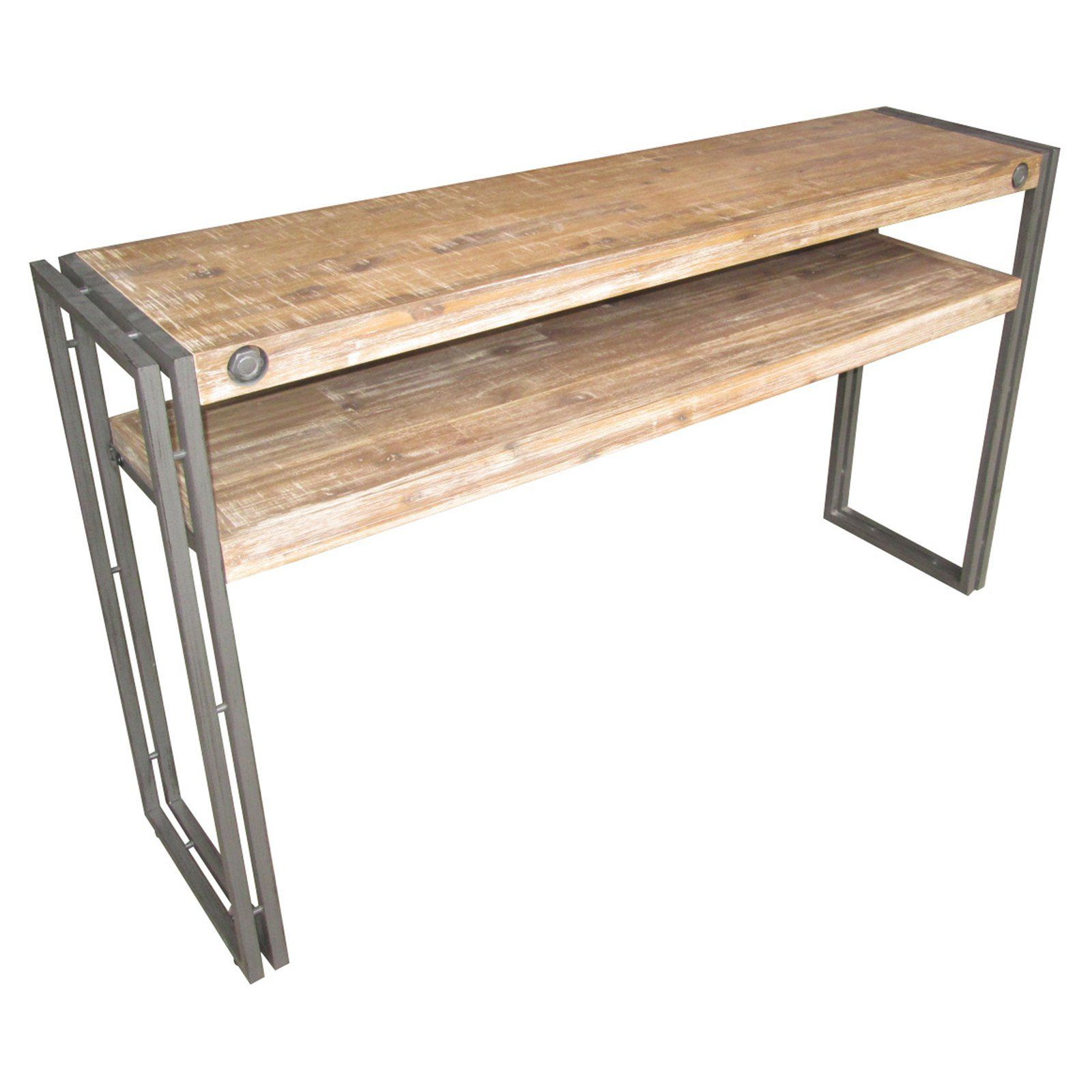 Moes home collection brooklyn console table natural gray moes home collection brooklyn console table natural gray from hayneedle geotapseo Choice Image