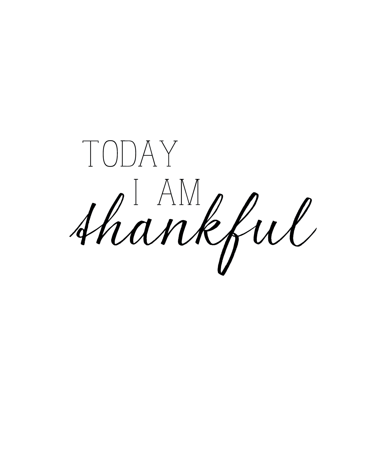today, i am thankful - free printables  Thankful quotes, I am