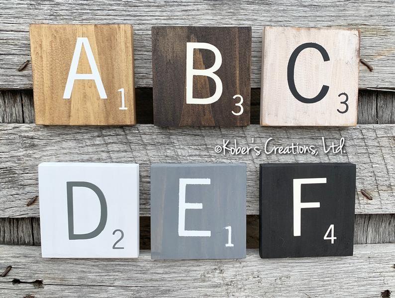 Large Scrabble Tiles Scrabble Letters Scrabble Tiles Wall Etsy Scrabble Tile Wall Art Tile Wall Art Scrabble Wall Art