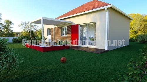 Maison de plein pied, le modèle TERA est composé de deux chambres