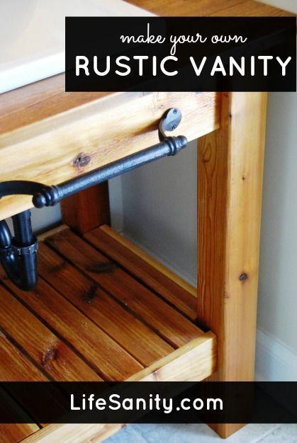 make your own rustic vanity life sanity life sanity blog posts pinterest vanities. Black Bedroom Furniture Sets. Home Design Ideas