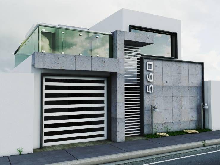 Propuesta de fachada 1 casas de estilo moderno por for Fachadas de casas estilo moderno