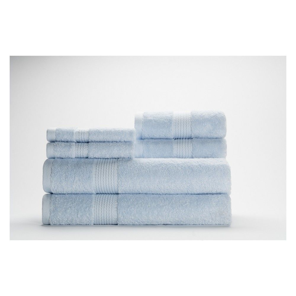 Brighten Your Bathroom With The 6 Piece Cromwell Bath Towel Set From Caro Home Made From 100 Percent Cotton These Solid Co Caro Home Towel Set Bath Towel Sets