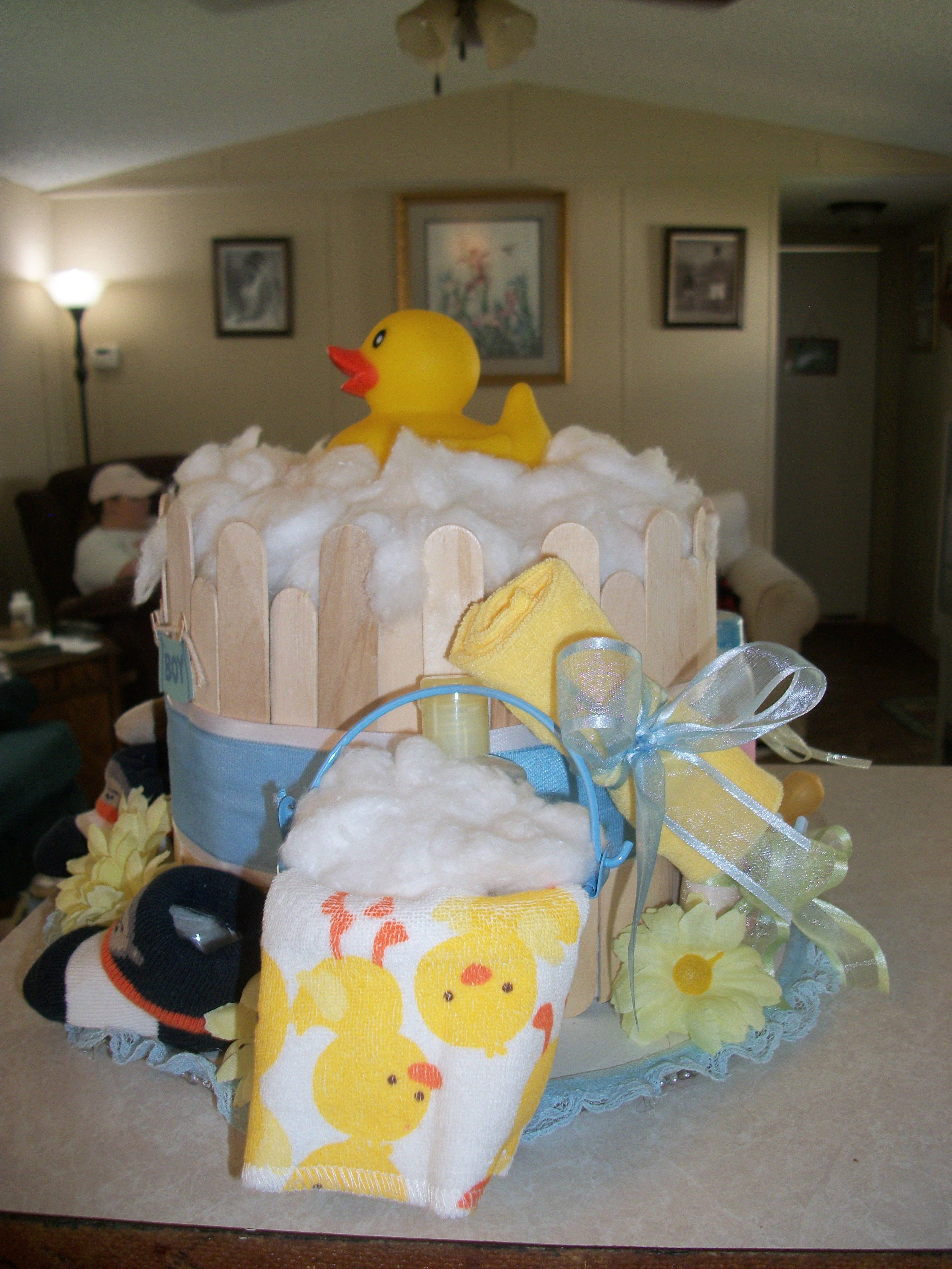 Suds In A Bucket Right Side Of Diaper Cake