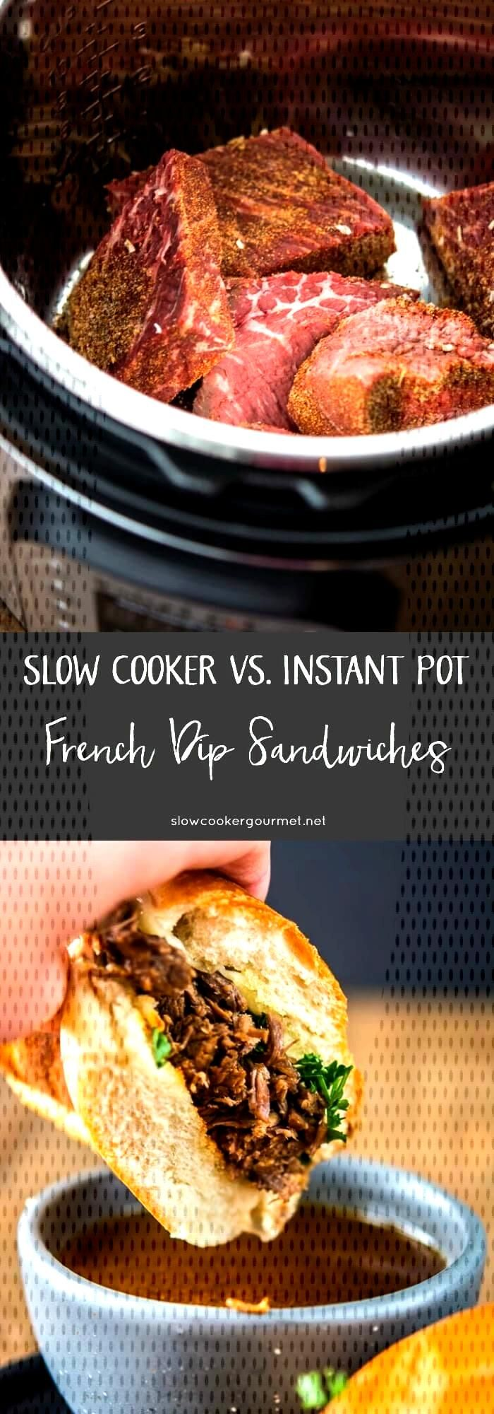Pressure Cooker French Dip Sandwiches vs. Slow Cooker French Dips -