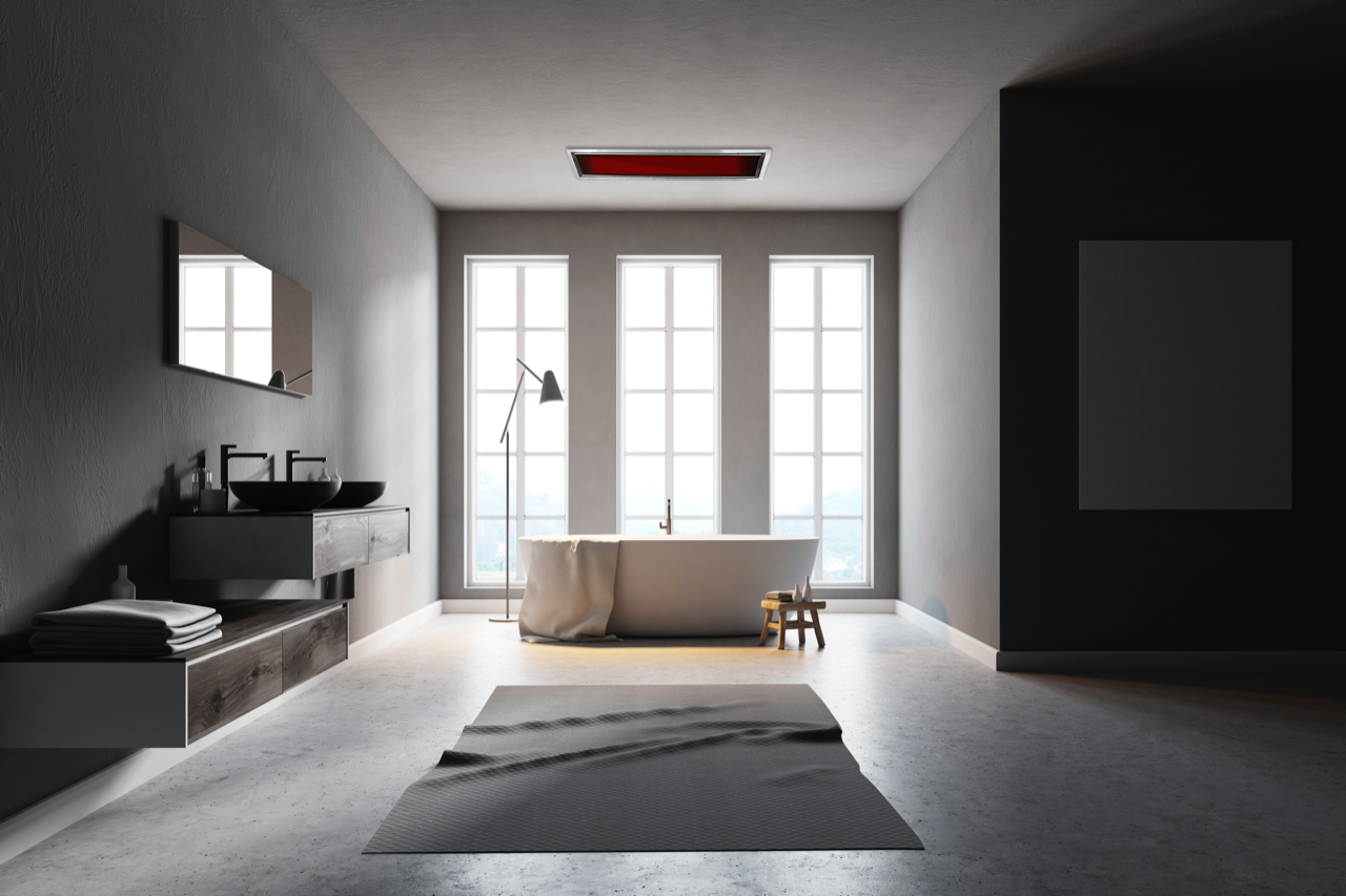 Badheizstrahler RELAX GLASS Carbon IRB IP10 (mit Bildern)  Haus