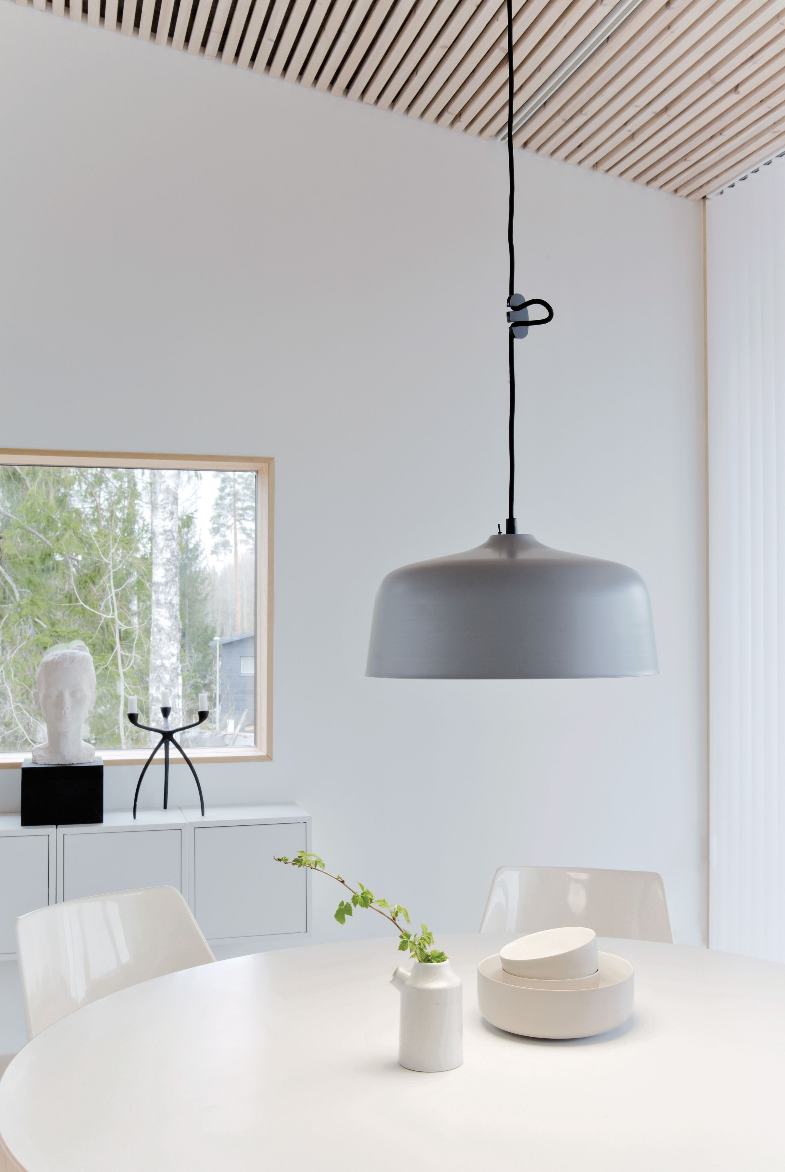 scandinavian lighting design. bright light device innolux candeo in new grey colour! design: katriina nuutinen. scandinavian lighting design e