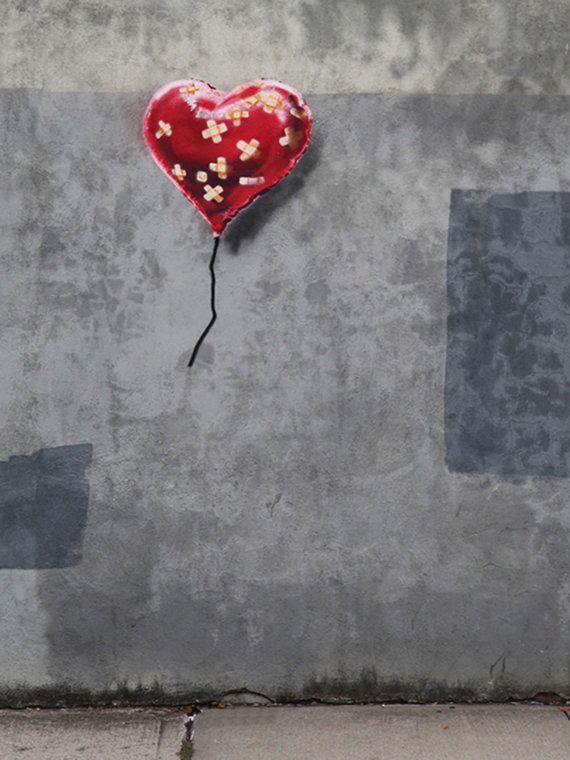 Huge 30 x 40 inch bandaid Heart Balloon New by StreetArtonCanvas