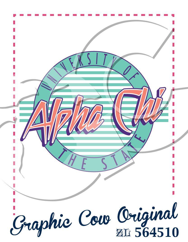 Alpha Chi 80s circle decades #grafcow