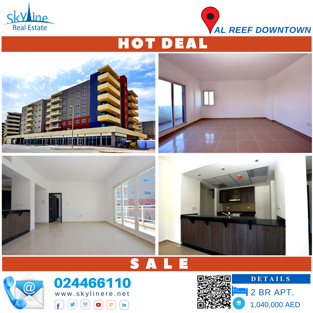 Today's Hot Deal! 2 Bedroom Apartment In Al Reef Downtown