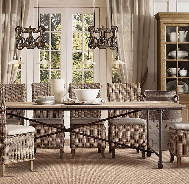 Kubu Grey Rattan Dining Chairs