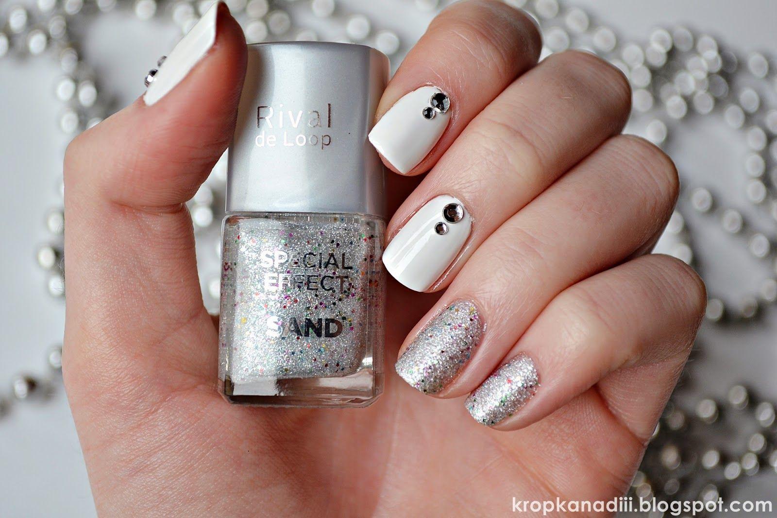 White Rhinestoned Nails : http://kropkanadiii.blogspot.com/2015/02/paznokciowe-insiracje-4-krysztaki-od-bps.html