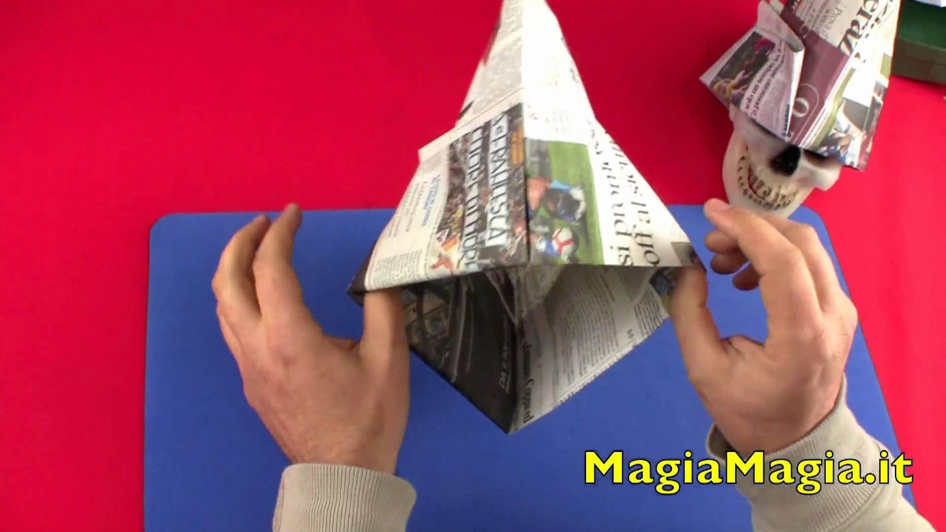 Cappello da muratore tutorial paper hat 折纸  1547dbb16797