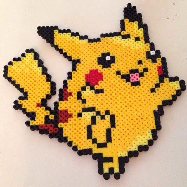 Pikachu Pokemon hama beads by vixxi89