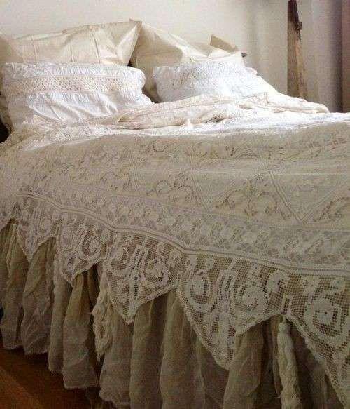 Camera da letto shabby shic - Copriletto shabby chic | Shabby ...