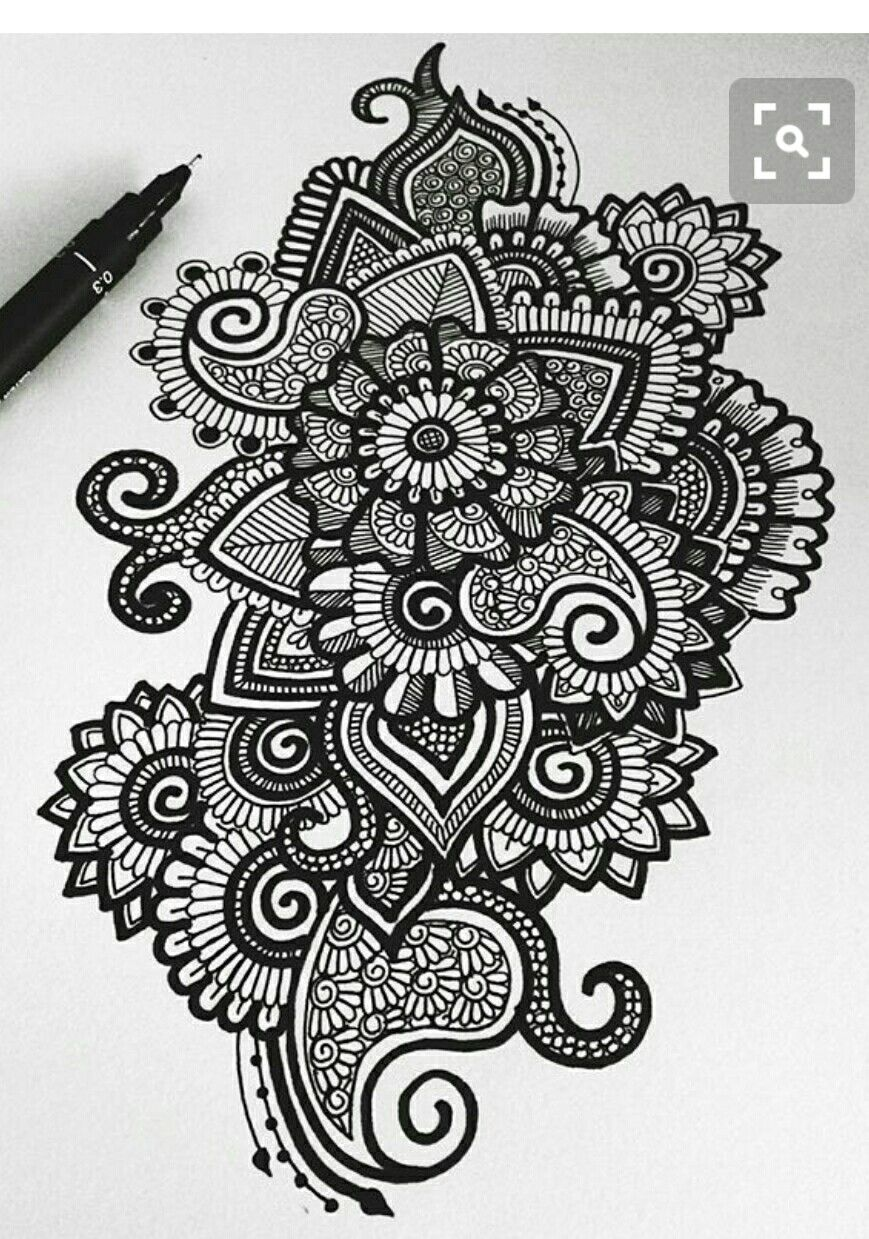 Could Be Mandala Steampunk Ish Floral Art Zentangle Patterns