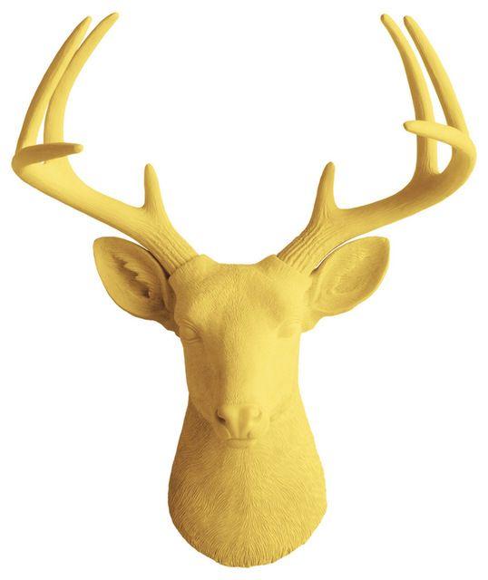 Wall Charmers Deer in Sage | Fake Taxidermy Head Faux Resin Bust ...