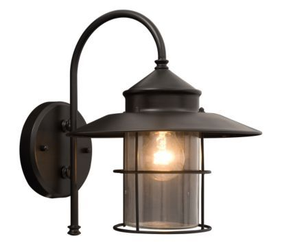 B Q Vincent With Clear Gl Shade Wall Lantern