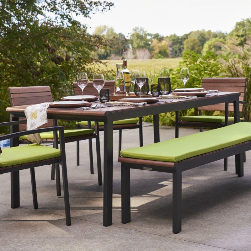Rocha Rectangular Dining Table Crate And Barrel Patio Design Outdoor Furniture Sets Rectangular Dining Table