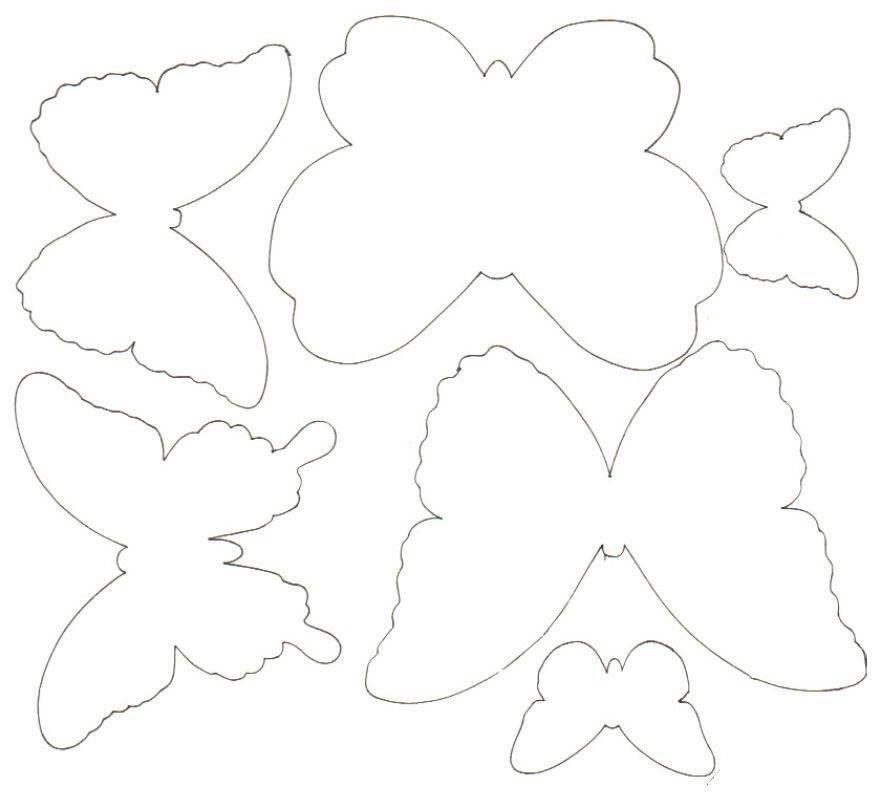 Шаблон бабочки для открытки, волнуюсь тебя