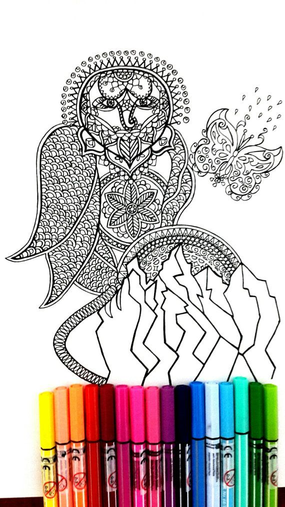 Complex coloring page with the illustration of an owl on rock, perfect for those who like coloring pages and more complex work with many colors.