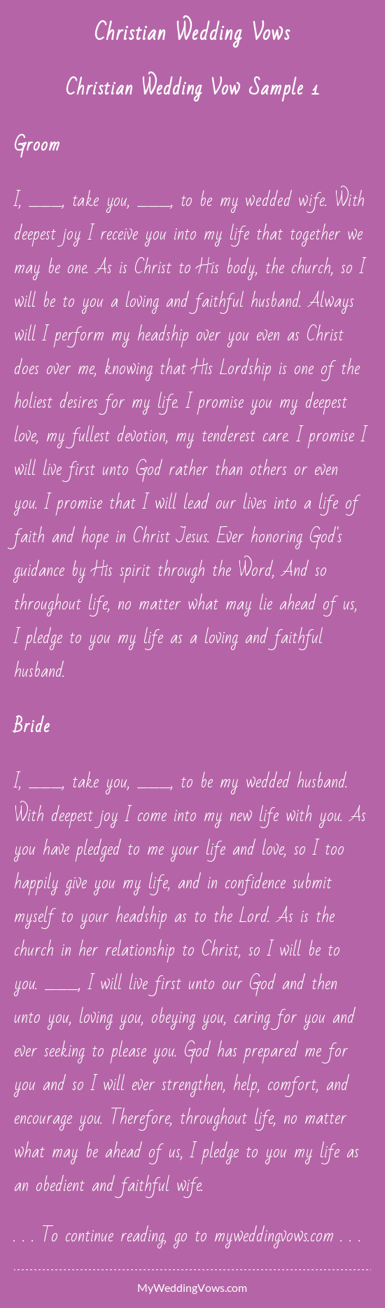 Christian Wedding Vows Christian Wedding Vows Traditional Wedding Vows Christian Wedding