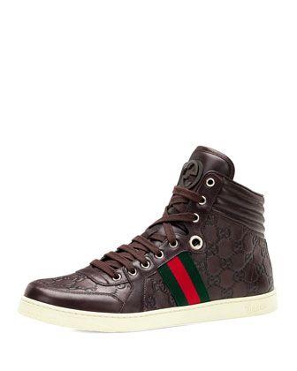 Gucci Coda Guccissima Leather High-Top