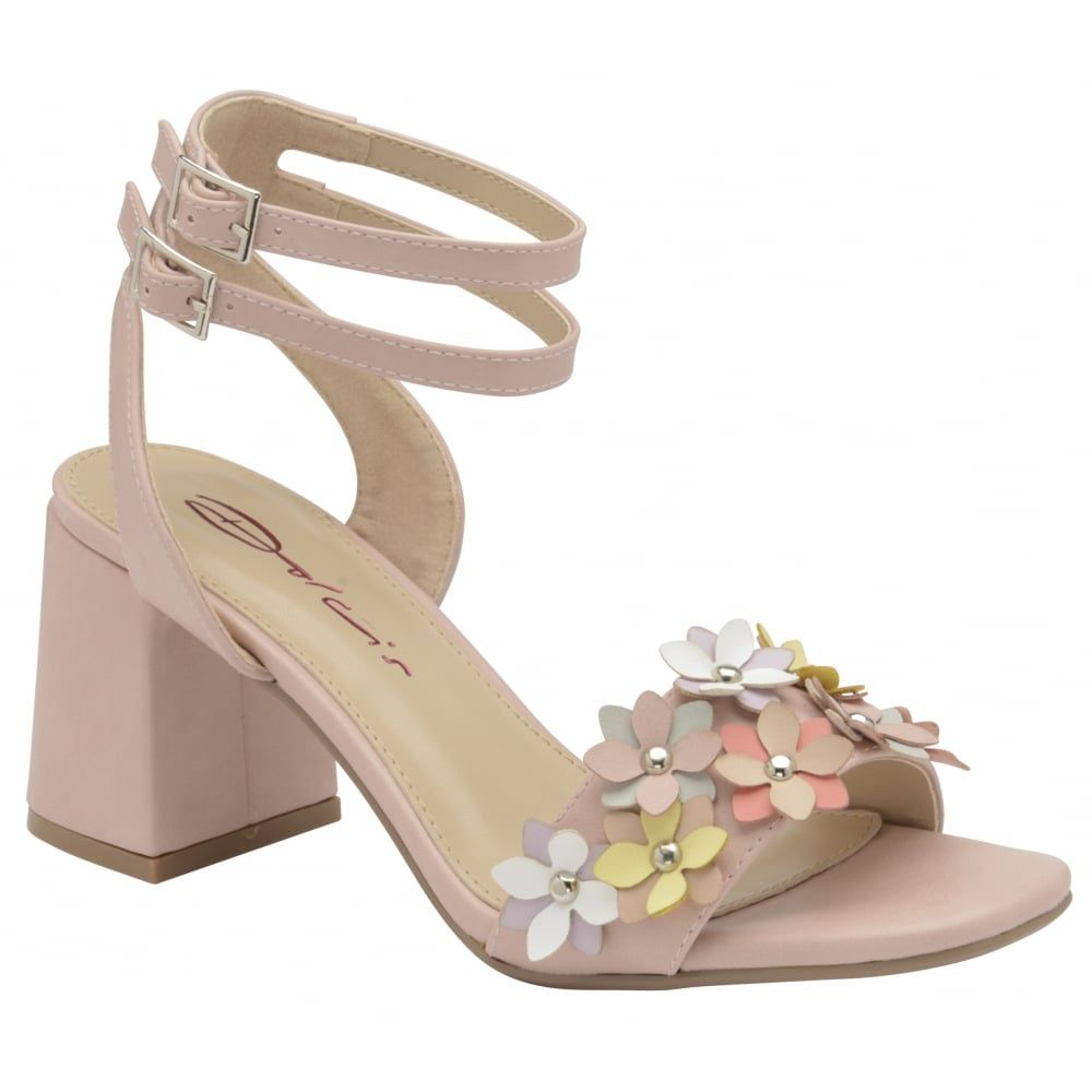 6d983af5606 Dolcis Niamh Block Heel Sandals Pale Pink | Gorgeous shoes | Heels ...