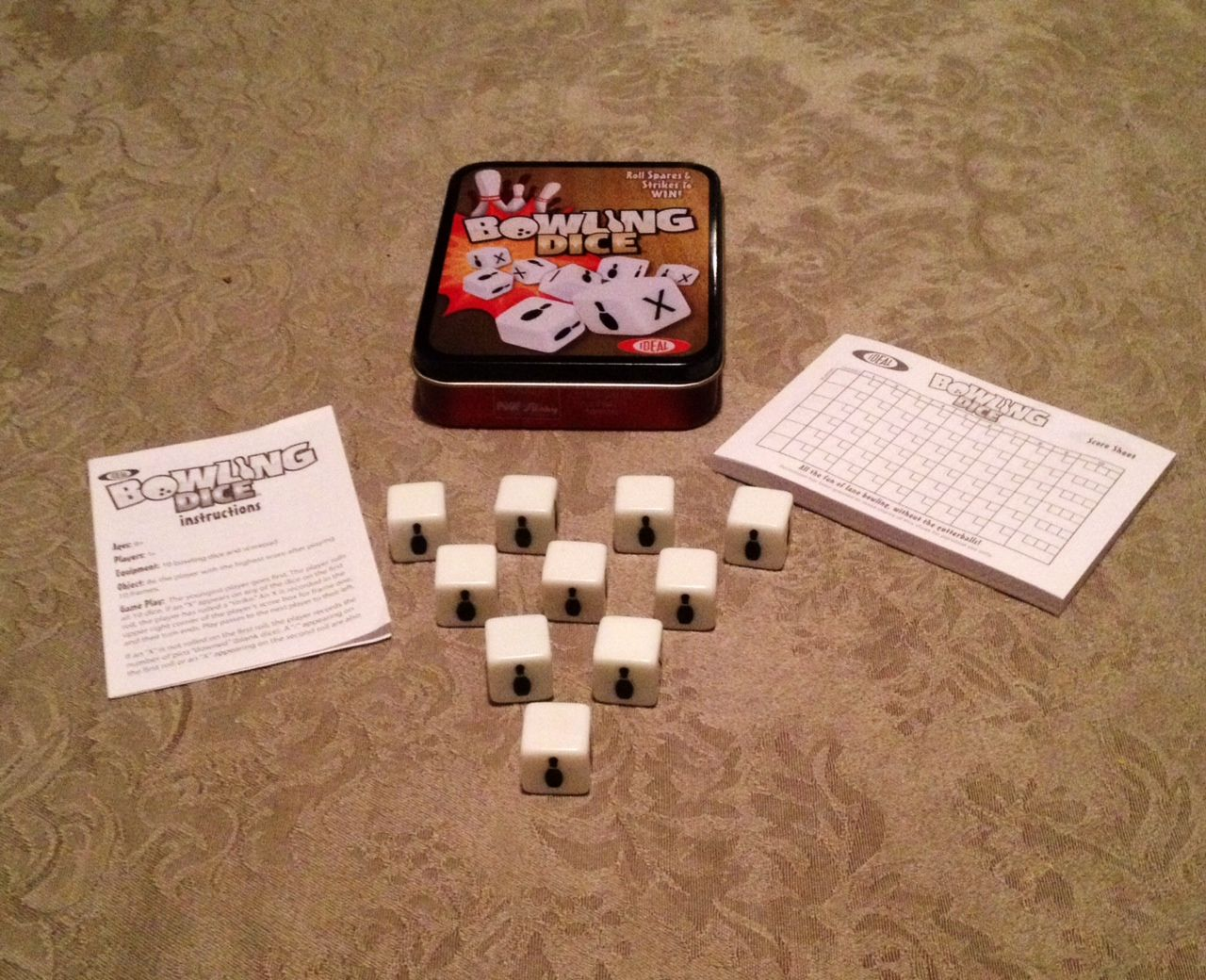 Bowling Dice Game Games Dice Games Game Pieces