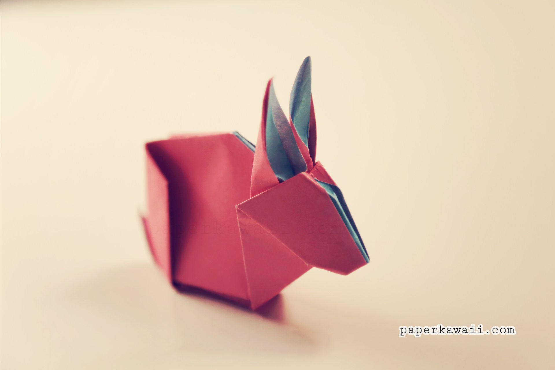 Origami Hase Aufblasbar