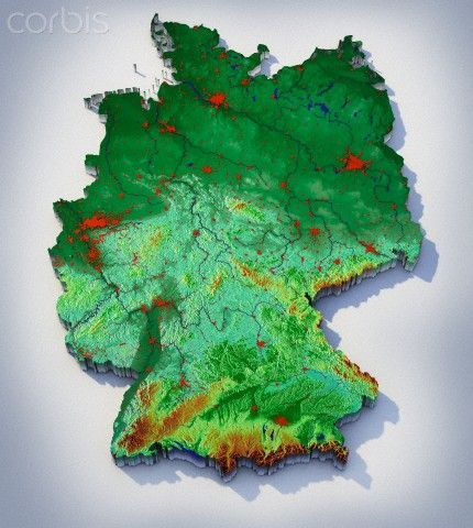 Topographic Map of Germany. new connections | journey:OUR twisted ...