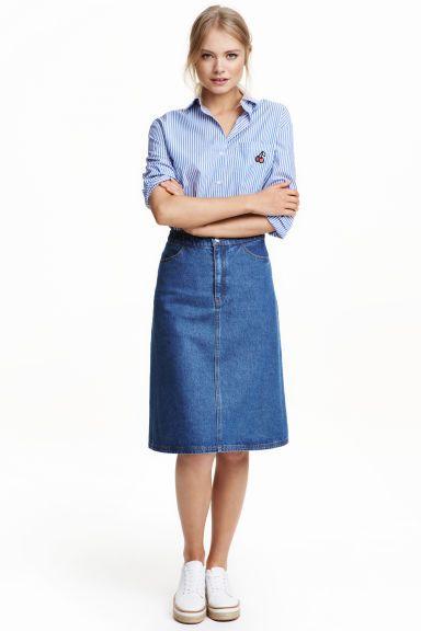 20aa670b6fb Джинсовая юбка трапеция