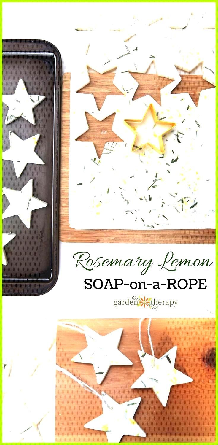 Video Rosemary Lemon Soap-on-a-Rope Stars and Bars Garden Therapy DIY Rosemary Lemon Soap on a Rop