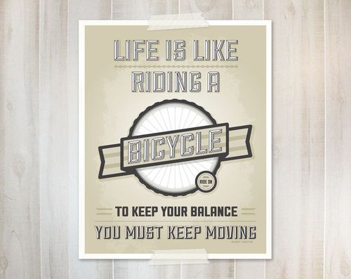 Bicycle Art print (by monkeymindesign)